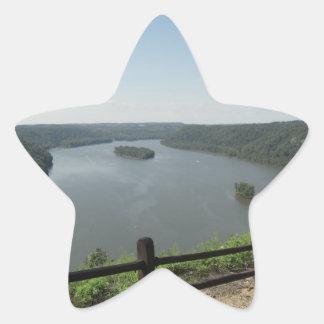 Puesto de observación del punto del pináculo pegatina en forma de estrella