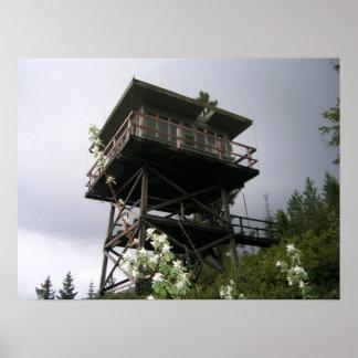 Puesto de observación verde del fuego de Ridge Póster
