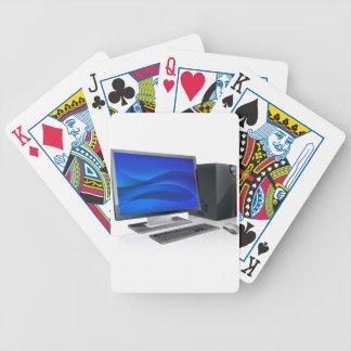 Puesto de trabajo del ordenador del PC de sobremes Baraja Cartas De Poker