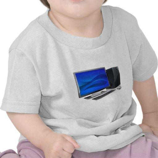 Puesto de trabajo del ordenador del PC de sobremes Camisetas