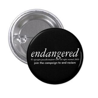 puesto en peligro por el papscalleconceptart pin redondo de 1 pulgada