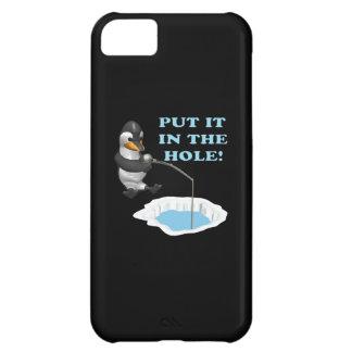 Puesto le en el agujero funda para iPhone 5C