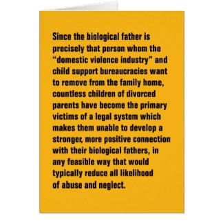 Puesto que el padre biológico está exacto… tarjeta de felicitación