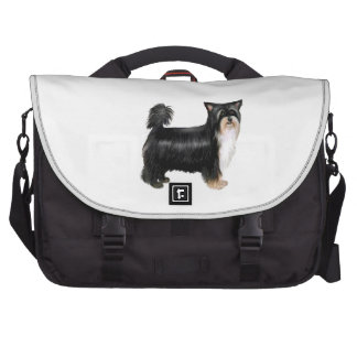 PUFF Chinese Crested - Tri Color Laptop Messenger Bag