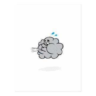 puff cloud postcard