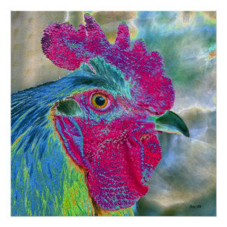 Puff Daddy the Rooster Poster