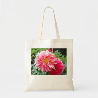 Puff of Pink Dahlia Tote