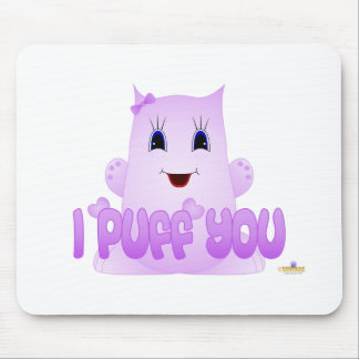 Puff Pal Purkle I Puff (Love) You Mouse Pad