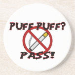Puff Puff Pass Beverage Coasters