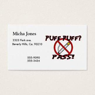 Puff Puff Pass Business Card