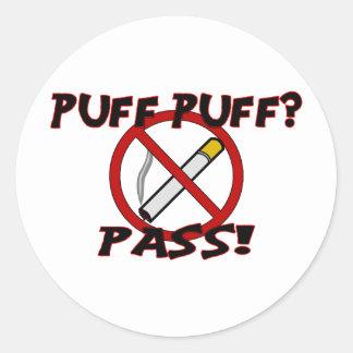Puff Puff Pass Classic Round Sticker