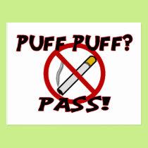 Puff Puff Pass Postcard