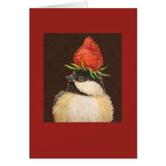 Puff the chickadee card