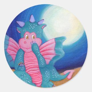 Puff The Magic Dragon Classic Round Sticker