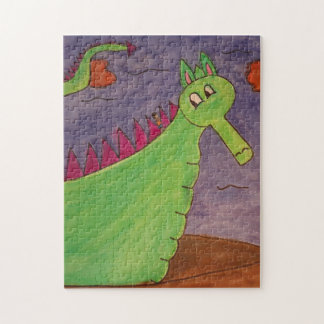 Puff the Magic Dragon - watercolors Jigsaw Puzzle