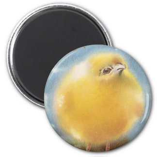 Puffball Chick Vintage Easter 2 Inch Round Magnet
