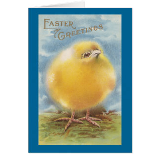 Puffball Chick Vintage Easter Card