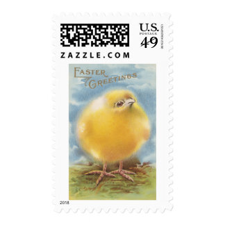 Puffball Chick Vintage Easter Postage