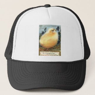 Puffball Fluffy Easter Chick Voilet Trucker Hat