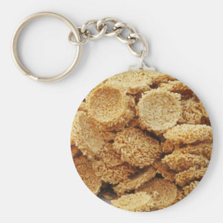 Puffed Rice Cakes ~ Asian Sweets Desserts Food Keychain