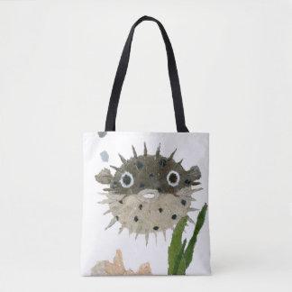 Puffer, Blowfish, Fish, Sea Creature Tote Bag