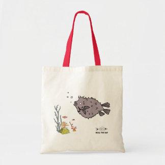 puffer fish budget tote bag