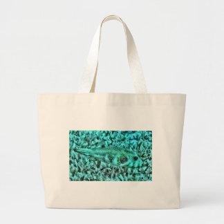 Puffer Fish Jumbo Tote Bag
