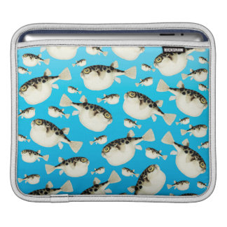 puffer fish blue sleeve for iPads