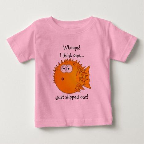 Puffer fish - funny sayings baby T-Shirt