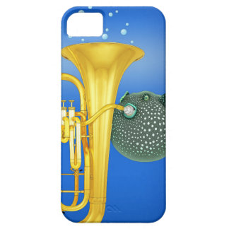 Puffer Fish Playing Tuba - iPhone 5/5S Case