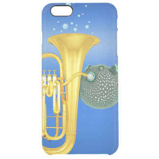Puffer Fish Playing Tuba - iPhone 6 Plus Case Uncommon Clearly™ Deflector iPhone 6 Plus Case