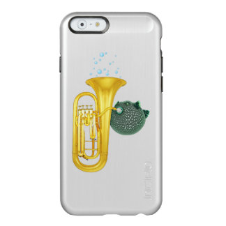 Puffer Fish Playing Tuba - iPhone 6 Silver Case Incipio Feather® Shine iPhone 6 Case