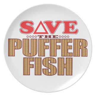 Puffer Fish Save Dinner Plate