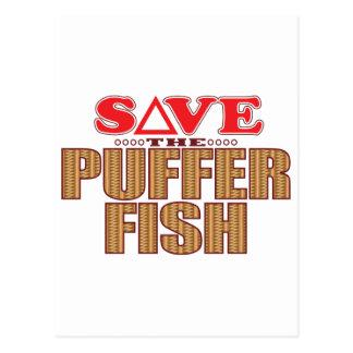 Puffer Fish Save Postcard