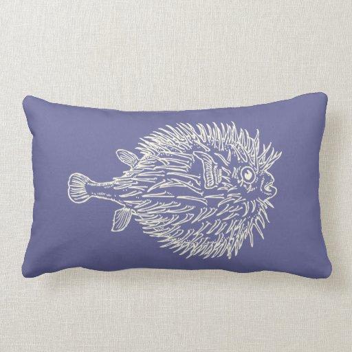 Puffer fish throw pillows zazzle for Fish throw pillows
