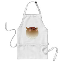 Puffer fish white adult apron