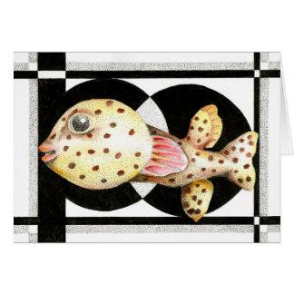 Pufferfish Greeting Card