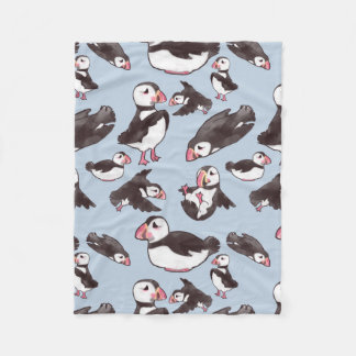 Puffin Baby Fleece Blanket