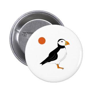 Puffin Bird Button