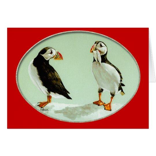 Puffin Bird Comical Art Gifts Card
