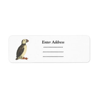 Puffin Bird Custom address label Sticker