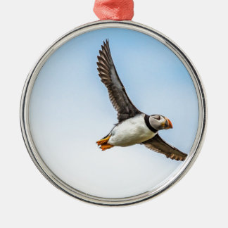 Puffin Bird Sea Flight Wildlife Fly Feather Metal Ornament