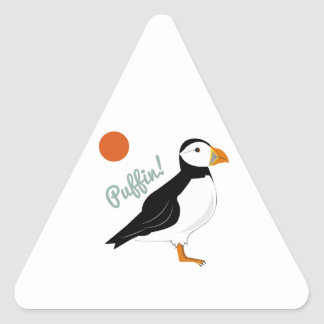 Puffin! Bird Triangle Sticker