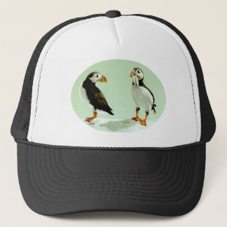 Puffin Birds Painting Trucker Hat