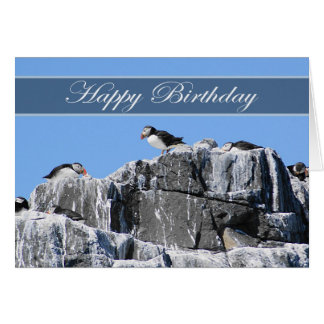 Puffin Birthday Card, wildelife Greeting Card