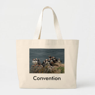 Puffin Convention Large Tote Bag