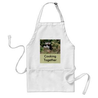 Puffin Couple Adult Apron