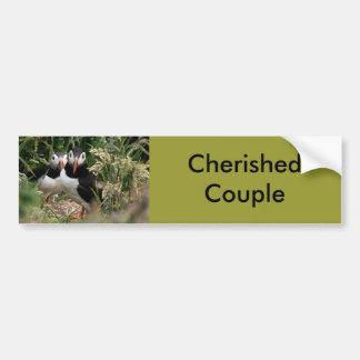 Puffin Couple Bumper Sticker