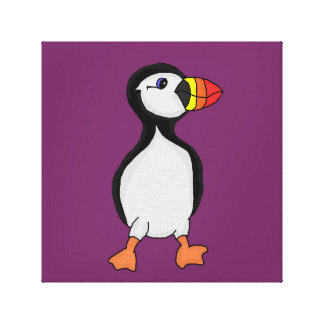 Puffin design cards and paper products canvas print