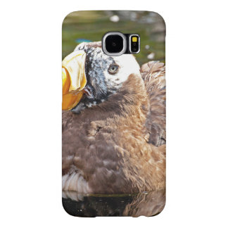 Puffin Floating on water Samsung Galaxy S6 Case